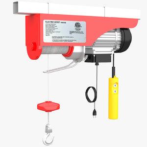 electric hoist 3D model