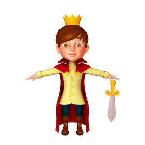 prince cartoon 3D model