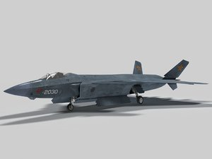 chengdu j-20 mighty dragon 3D model