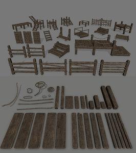 3D rope wood model