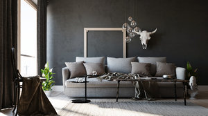 interior scene corona 3D model