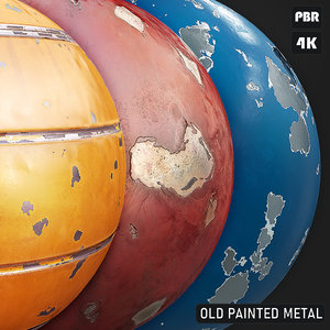 PBR Painted Metal textures