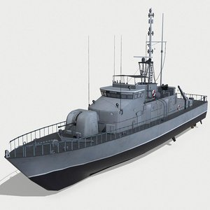 vessels hmas fremantle 3D model
