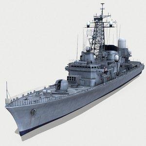 3D destroyers hatsuyuki model