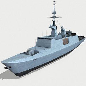 fayette naval 3D model