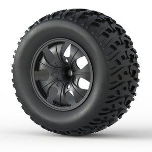 3D monster truck wheel