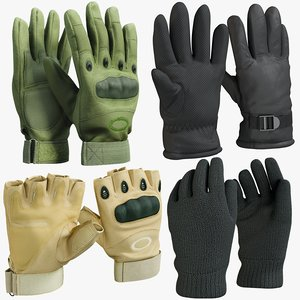 realistic gloves 1 collections 3D