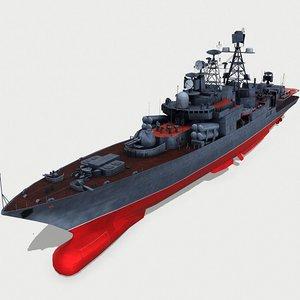 3D model udaloy class destroyers