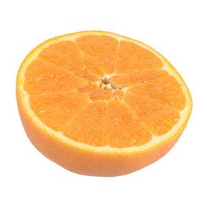 3D photorealistic scanned orange model
