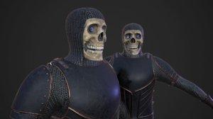 skeleton knight fantasy 3D model