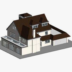revit family house 3D model