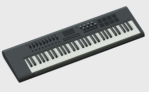 m-audio axiom midi keyboard 3D model