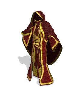 3D model robe mage
