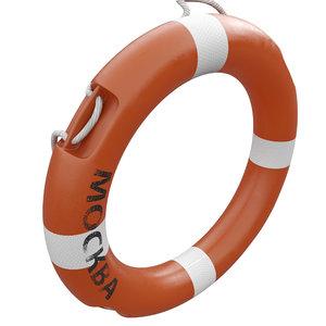 ring buoy 3D model