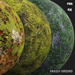 PBR Grassy Ground textures