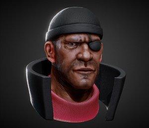 demoman team fortress 2 3D model