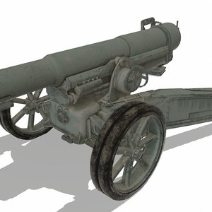 canon gun 3D model
