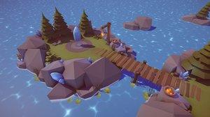 fantasy battle arena 3D model