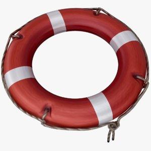 3D model life buoy pbr