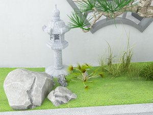 pavilion chinese style 3D model