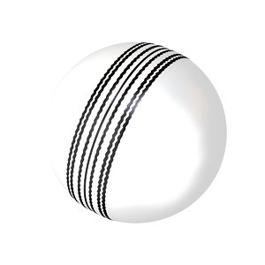 3D model cricket ball white