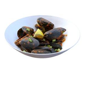 mussels marinara 3D model