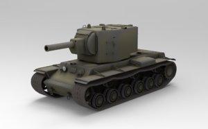 kv-2 soviet tank 3D model
