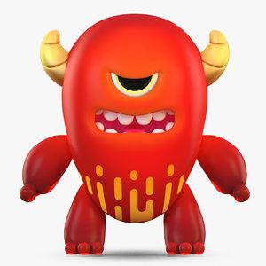 3D model cute cartoon monster 2