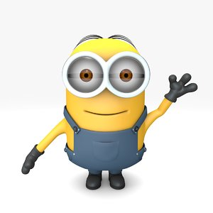 3D minion character rigged model