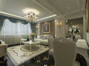 3D living room dining furniture