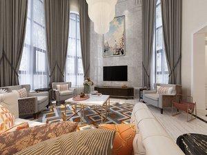 home interior empire style model