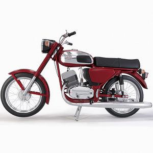 3D soviet motorcycle czechoslovakia