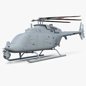 3D northrop grumman mq-8c scout model