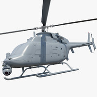 Northrop Grumman MQ-8C Fire Scout Unmanned Helicopter Rigged