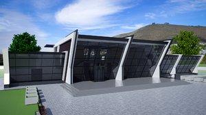 3D conference centre building structure