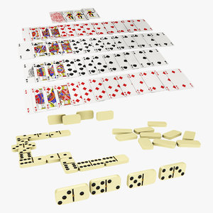 playing card dominos 3D