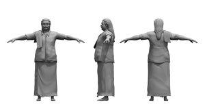 village india old man 3D model