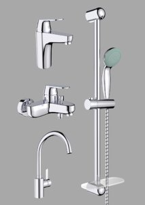 faucets shower set 3D model