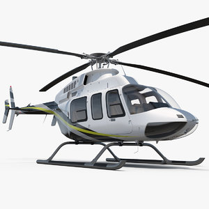 3D civilian passenger helicopter generic