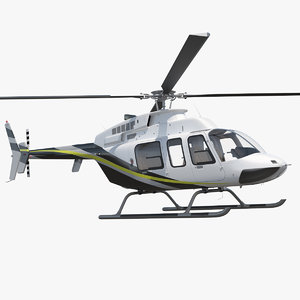 3D model civilian passenger helicopter generic