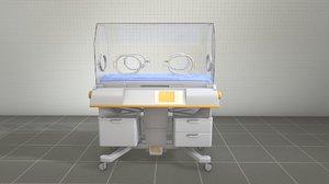 infant incubator 3D model