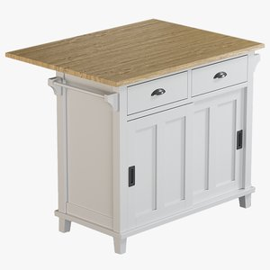 realistic belmont mint kitchen island 3D model