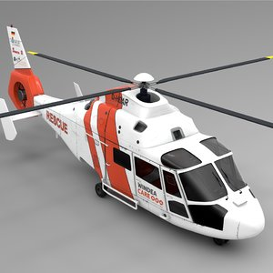 3D model northern helicopter nhc rescue