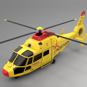northern helicopter nhc airbus 3D model
