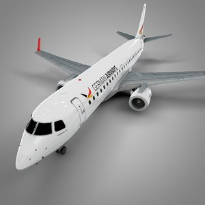 3D german airways embraer190 l645