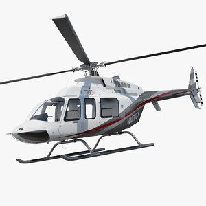 bell 407 gx utility 3D model