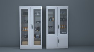 3D medicine cabinet model
