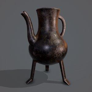 medieval style serving pitcher 3D model