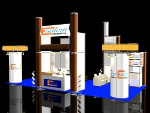 3D stand exhibition booth 5x10