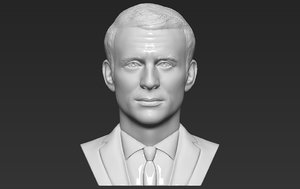 emmanuel macron bust printing 3D model